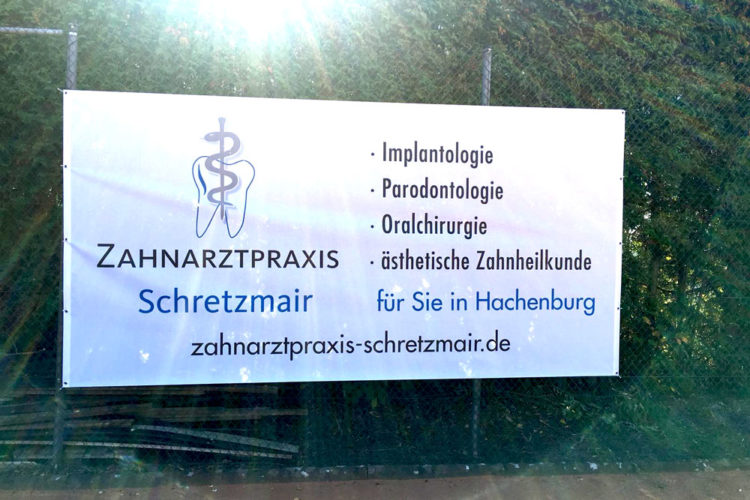 Zahnarztpraxis Schretzmair sponsort 2. Tennis-Löwencup